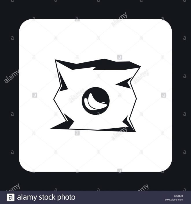 crumpled bag chips icon simple stockfotos crumpled bag
