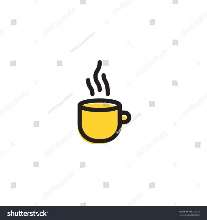 cup icon simple kitchen cooking illustration stock vector