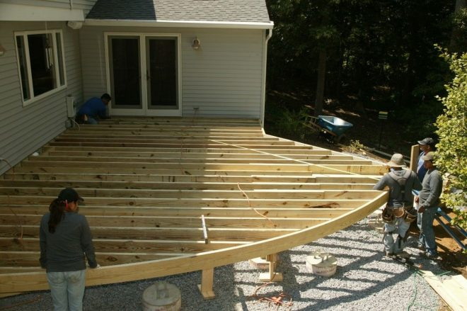 curved deck designs are becoming popular composite decking and pvc