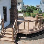 curved deck railing ideas decks horizontal metal patio gardens rebar