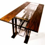 custom contemporary industrial eclectic dining table