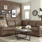 customizable 2 piece leather sectional sofa with track arms