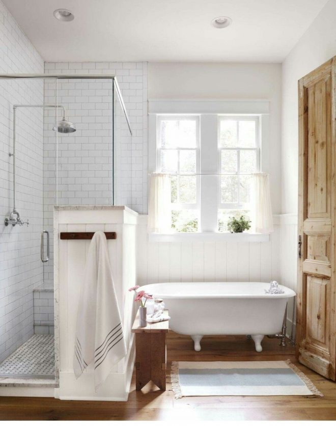 cute old fashioned claw foot tub wood floors and modern