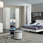 dama bianca contemporary queen bedroom set in white high gloss 5 piece