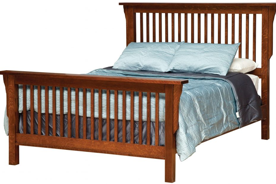 daniels amish mission king mission style frame bed with