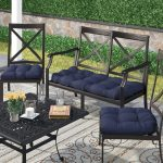 dar home co 3 piece indooroutdoor bench and dining chair cushion