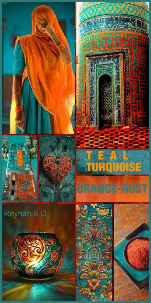 daring color and design inspiration teal turquoise orange