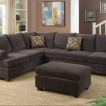 dark brown chenille sectional sofa
