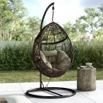 dawson outdoor basket swing chair with stand