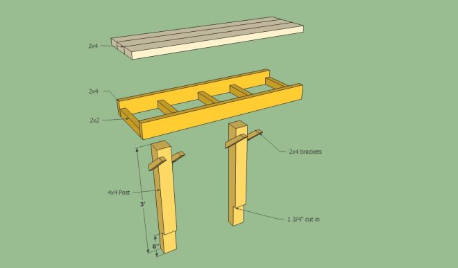 deck bench plans free howtospecialist how to build step