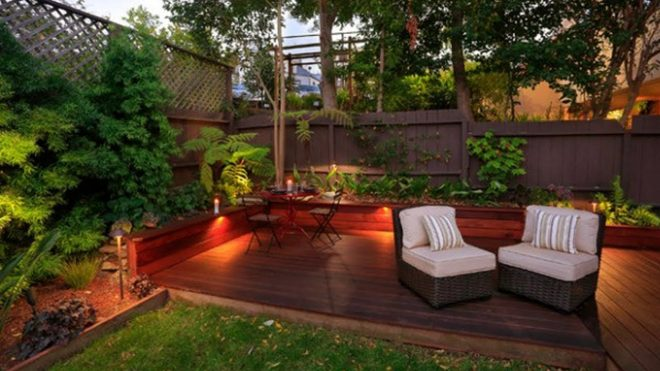 deck patio backyard wood beautiful small wooden ideas