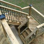 deck stairs with landing design distinctive designs 4