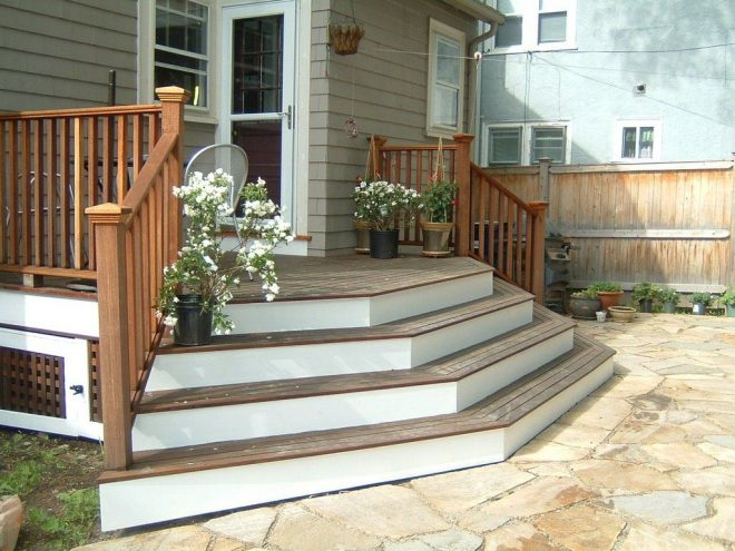 deck to patio transition pictures multi directional