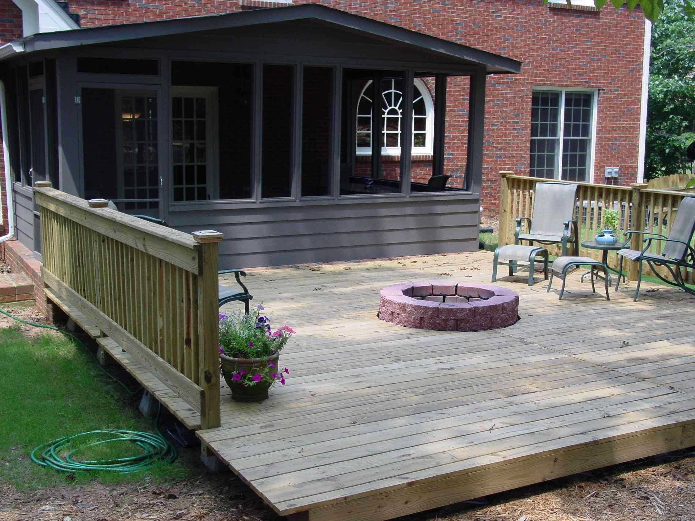 deck with fire pit quality home remodeling deck fire pit
