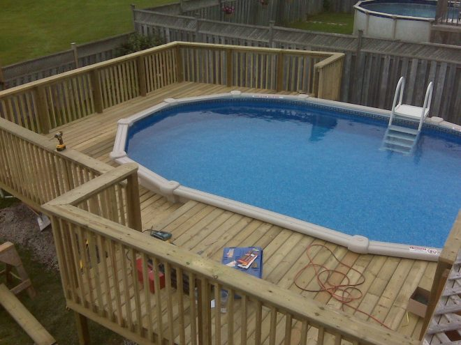 decks yards ideas designs decor pools small pictures above