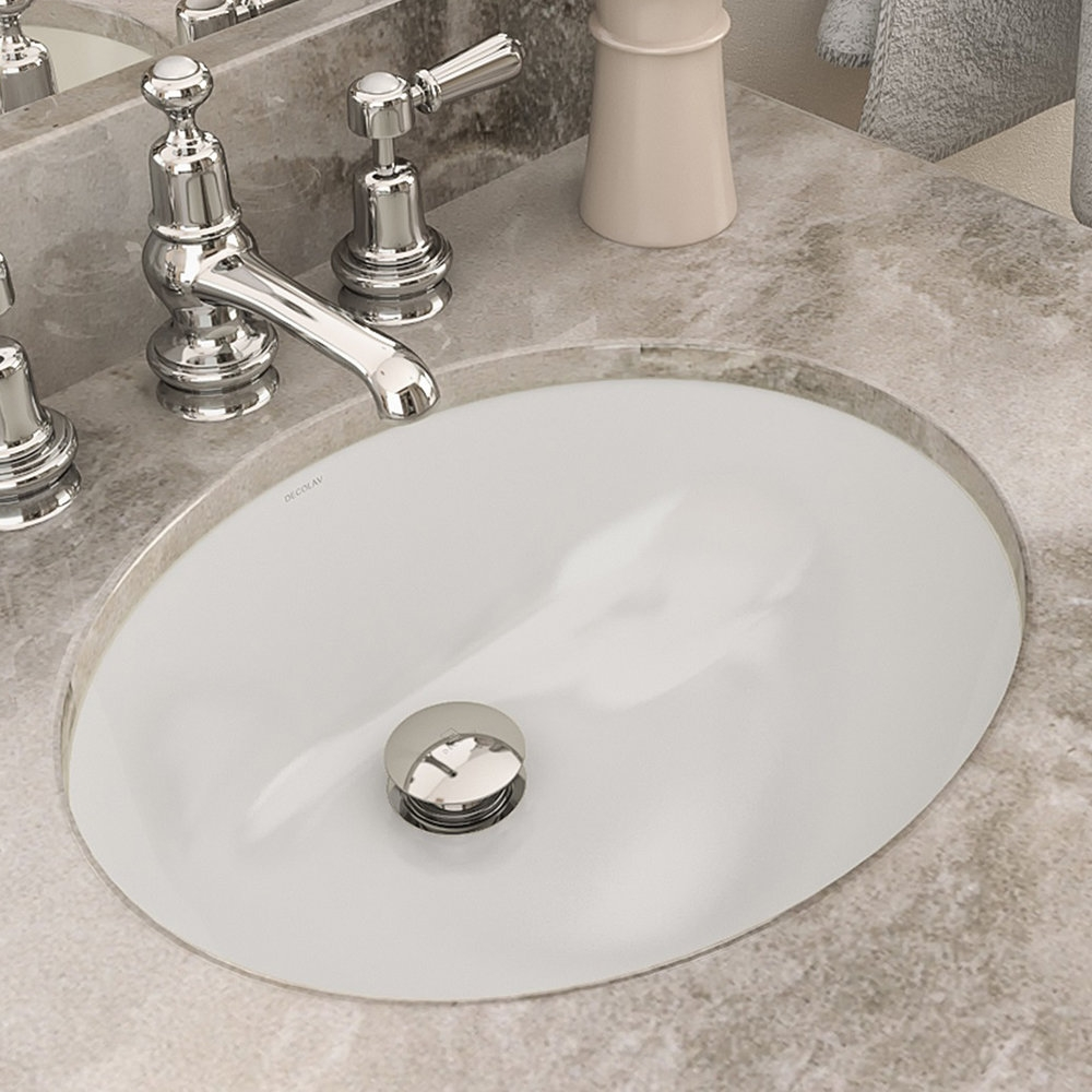 decolav carlyn classically redefined ceramic oval undermount