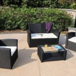decor of black patio furniture outdoor wicker patio