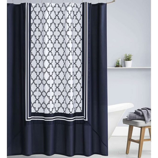 decorating bathrooms navy blue shower curtain target fabric