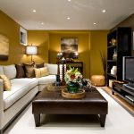 decorating ideas family room brown leather furniture new small