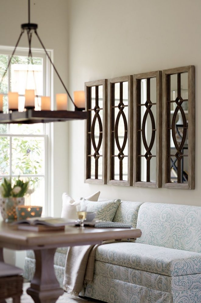 decorating with architectural mirrors living room ideas
