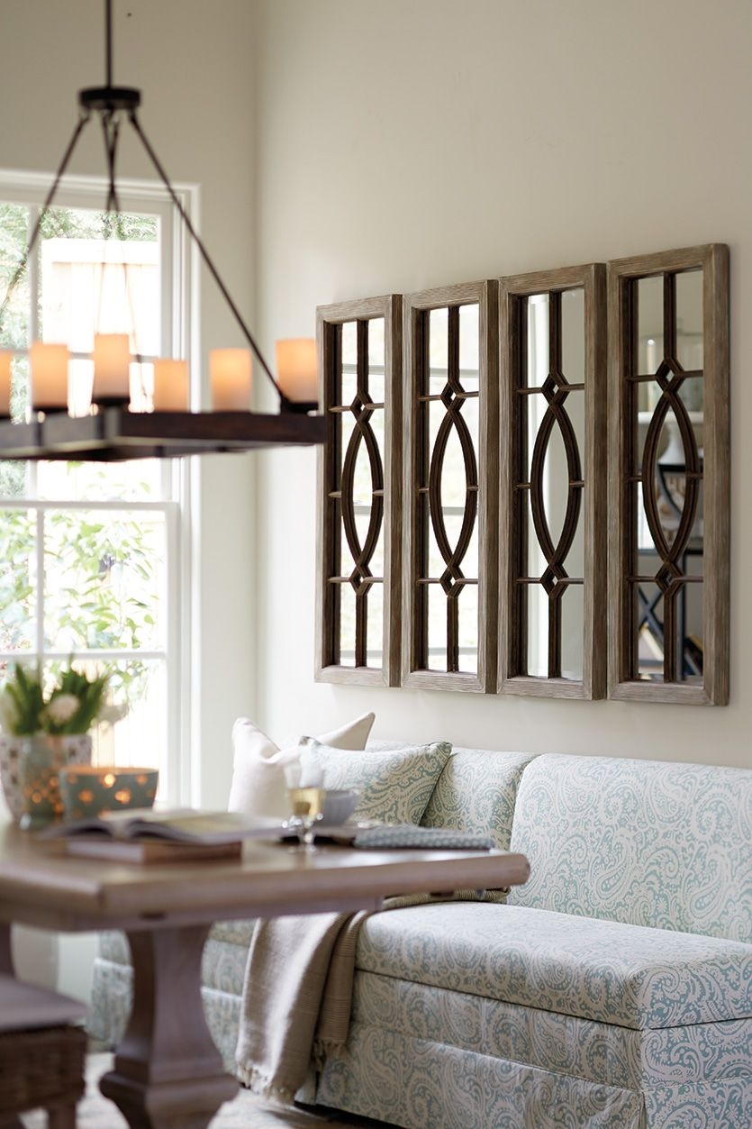 decorating with architectural mirrors living room room wall