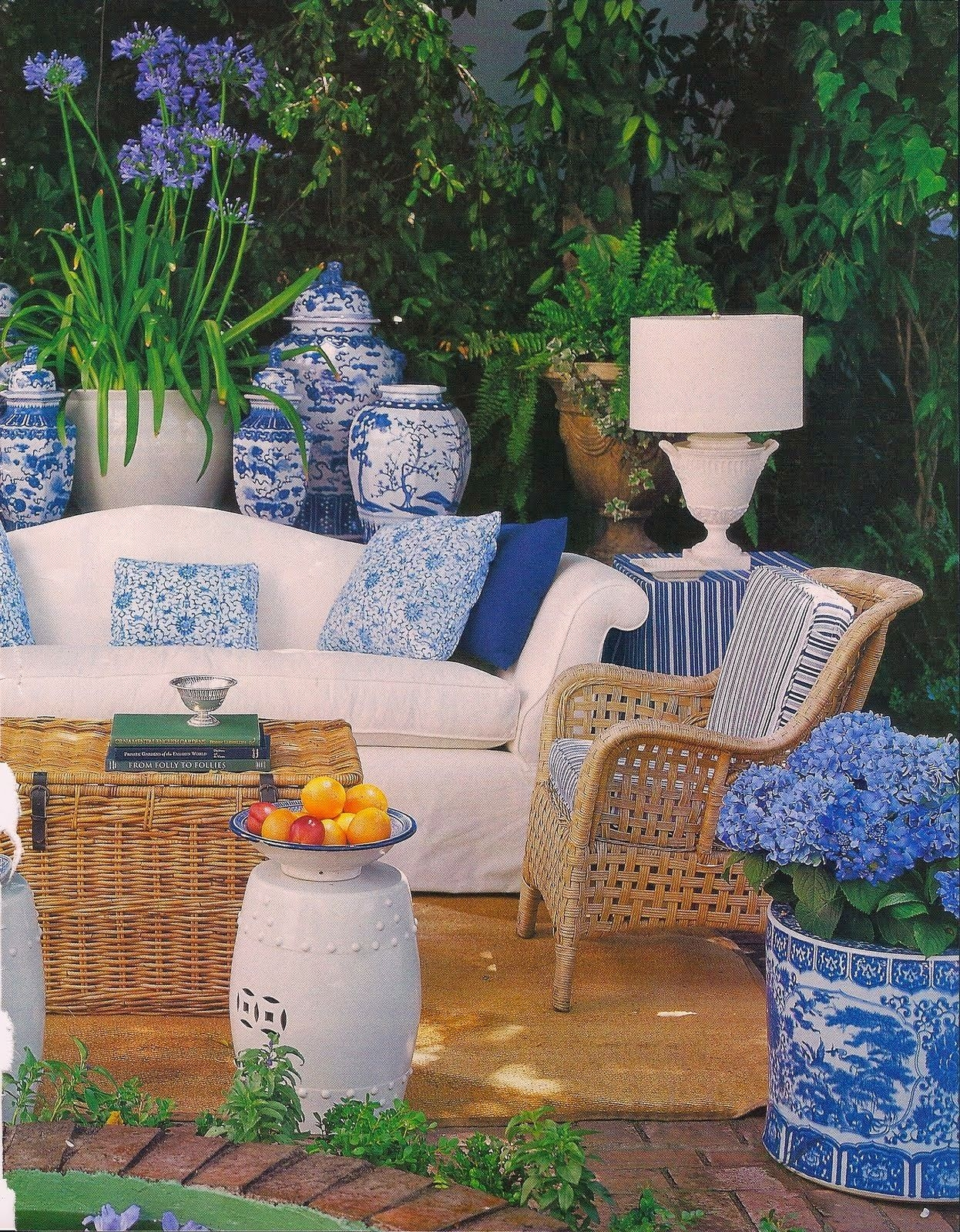 decorating with blue and white outdoors why i love blue white