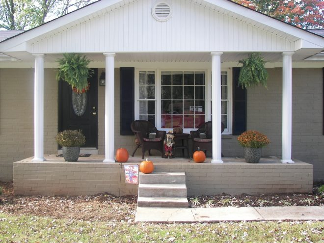 decoration front porches on ranch homes pictures brick front porch