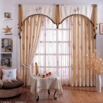 decorations living room curtains with valance window
