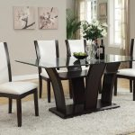 del sol af malik contemporary casual dining table w glass top