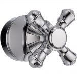 delta cassidy tub and shower faucet metal cross handle in