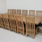depiction of dining room table seats 12 for big family dream home
