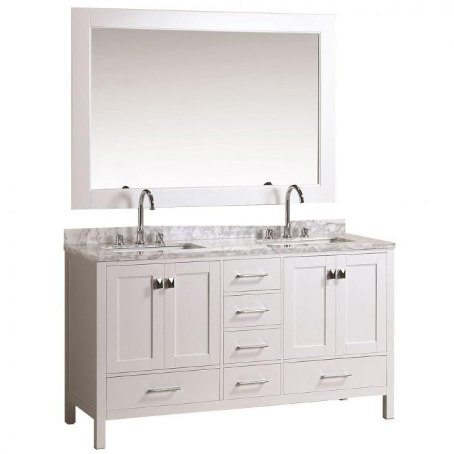 design element london 61 in w x 22 in d double vanity in white