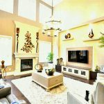 design ideas for living room with high ceilings lighting