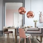 design inspiration rose gold grey dining room with