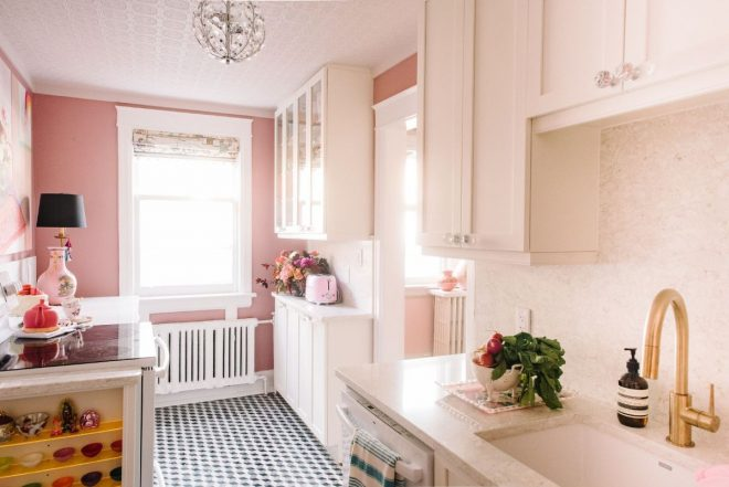 designer and stylist tickled pink with kitchen renovation