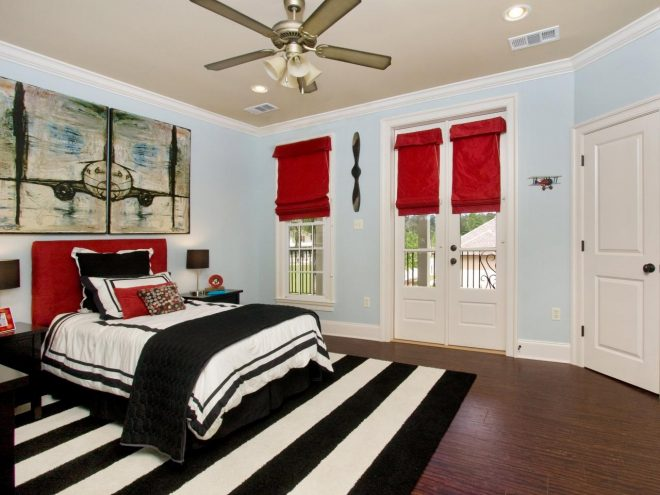 designing red and white bedrooms decorating room