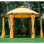details about 115 round dome patio gazebo outdoor sun shelter canopy tent metal garden lawn