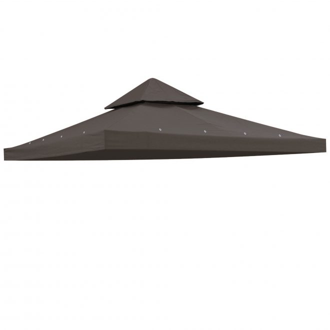 details about 12x12 gazebo canopy top replacement 2 tier pavilion sunshade polyester cover