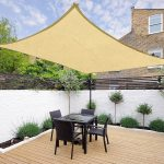 details about 16 x 12 outdoor rectangle sun sail shade patio canopy top cover desert sand