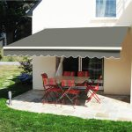 details about 25m x 2m patio manual awning garden canopy sun shade retractable shelter grey