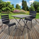 details about 3pc5pc bistro sets outdoor garden patio furniture slatted grey fold table chair