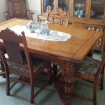 details about antique dining room suit 6 chairs china cabinet buffet