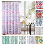 details about bath bathroom fabric shower curtain reinforced stitches mildew resistant