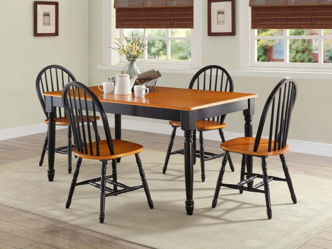 details about better homes and gardens autumn lane windsor chairs set of 2 black and oak