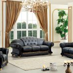 details about black genuine italian leather luxury sofa loveseat chair 3pc living room set