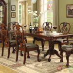 details about brussels formal dining room 7 piece furniture set traditional dark cherry wood