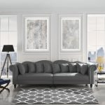 details about chesterfield large living room sofa classic velvet upholstered couch dark grey