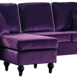 details about classic traditional small space velvet sectional sofa reversible chaise purple