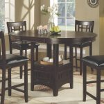 details about coaster counter height dining table only extension leaf dark espresso finish
