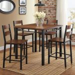 details about counter height dining set 5 piece chairs and table modern kitchenbreakfast nook